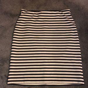 Striped Skirt Navy